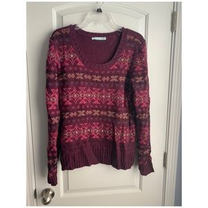 EUC Maurices printed sweater
